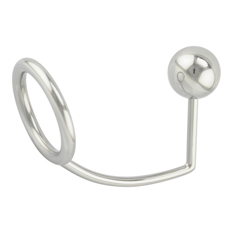 Intruder anal plug and stainless steel cock ring butt plug dildo sex toy